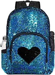 Magic Reversible Sequin Backpack,Sparkly Lightweight Back Pack for Girls and Boys, 17