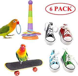 KJ-KUIJHFF Large Parrot Chew Toy Bird Chewing Toy Wooden Blocks Tearing Toys for African Grey Macaws Cockatoos Eclectus  Parrot Birds