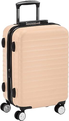 Amazon Basics Valise rigide à roulettes pivotantes de qualité avec serrure TSA intégrée - 55 cm, Rose