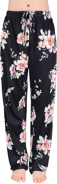 Century Star Women's Soft Pajama Pants Cotton Pj Bottoms Drawstring Lounge Pants Casual Sleepwear for All Seasons