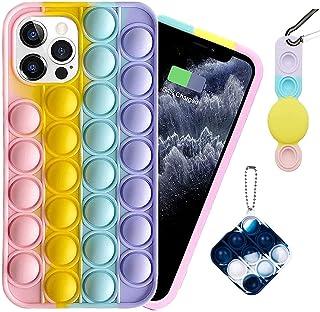 Push Pop Fidget Phone Case, Silicone Bubble Sensory Fidget Toy, for iPhone 12/12Pro/12ProMAX/11/11Pro/11ProMAX/X/XS/XR/XSM...