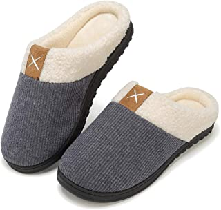 incarpo Mens Slippers Memory Foam House Slippers Comfortable Plush Lining Slip on House Shoes Indoor Outdoor