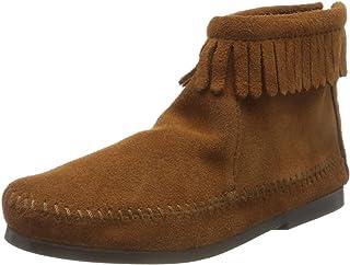 Minnetonka Back Zipper Boot, bottes mixte enfant, Marron, 31 EU