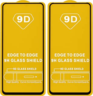 Dragon Black Frame Glass Screen Protector for Xiaomi Poco X2, Pack of 2 - Black