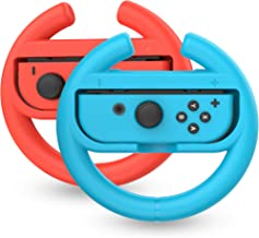 TalkWorks Steering Wheel Controller for Nintendo Switch (2 Pack) - Racing Games Accessories Joy Con Controller Grip for Ma...
