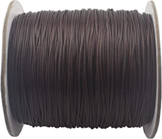 QIANHAILIZZ 150 Yards 0.5 mm Waxed Jewelry Making Cord Waxed Beading String Craft DIY Thread LXX120601805 (Coffee)