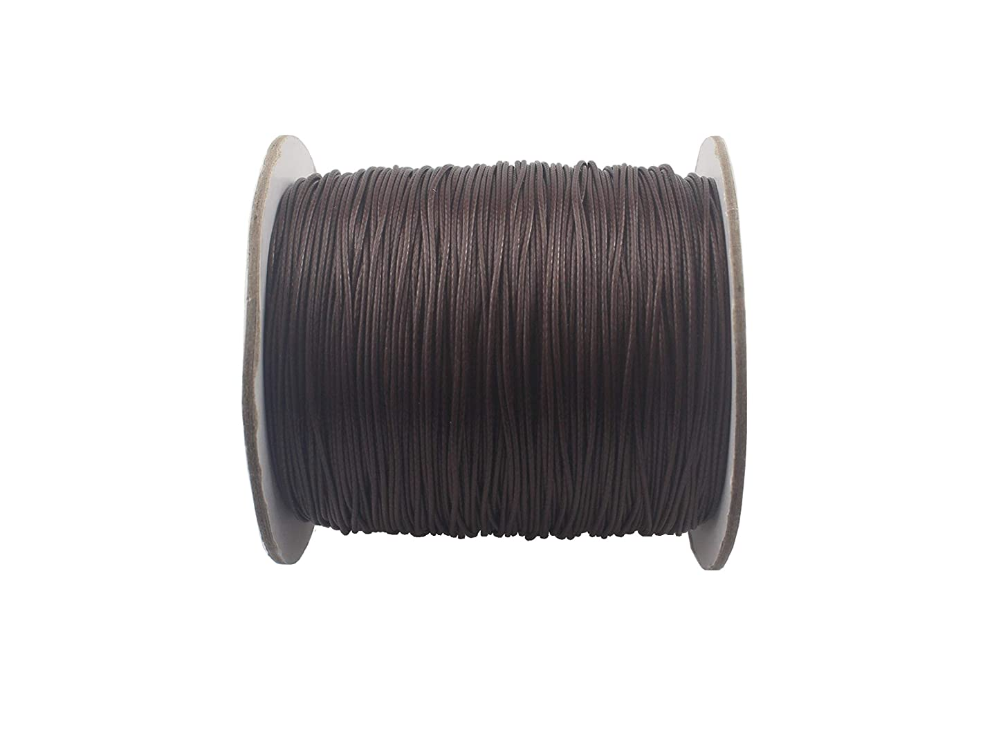 QIANHAILIZZ 150 Yards 0.5 mm Waxed Jewelry Making Cord Waxed Beading String Craft DIY Thread LXX120601805 (Coffee)