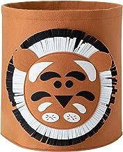 Panier a linge animal pour enfant, sac rangement jouet bébé-tigre