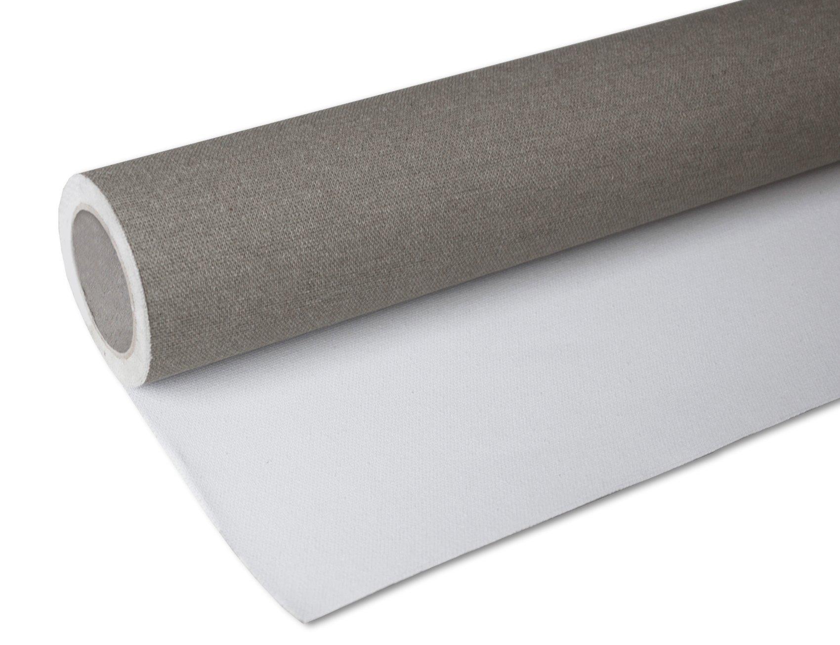 Arte & Arte 7178 - Rollo de Lienzo de Pintura, de algodón, Blanco, de 80 cm de Altura y 10 Metros de Longitud: Amazon.es: Hogar