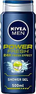 NIVEA MEN Power Fresh Shower Gel 3 In 1 24h Fresh Effect Citrus Scent, 500 ml