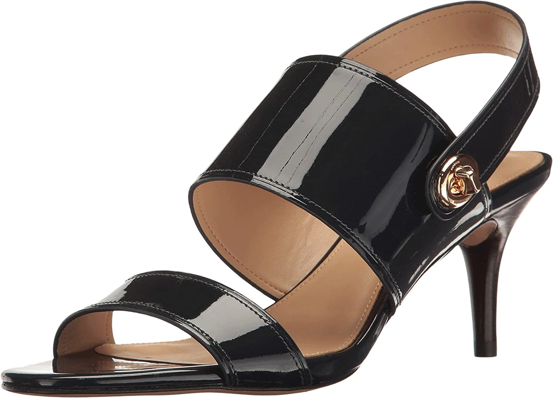 COACH Women's Marla Pantent Slingback Sandals