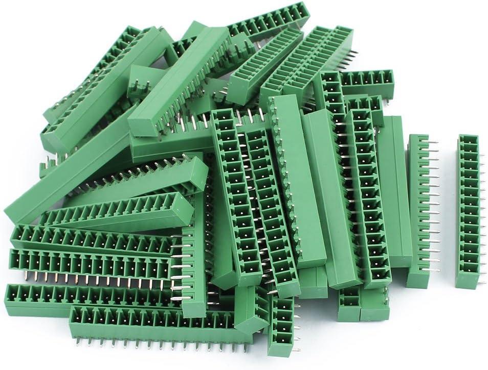 Aexit 50Pcs AC300V Fiber Optic Connectors 8A 3.81mm Pitch Wholesale Ranking TOP20 2EDGR