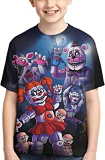 Youth Five Nights at Freddy's T-Shirts Kids T Shirts Summer Tops Tee Shirts for Boys Girls