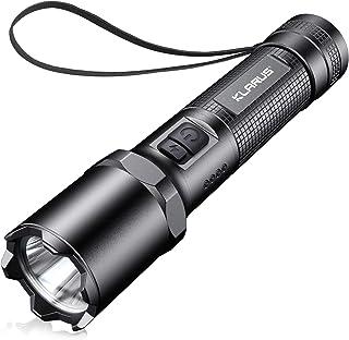 Klarus A1 Rechargeable Tactical Flashlight, 1100 Lumens LED Handheld Pocket-Sized Torch Flash Light, 3 Modes Plus Strobe, ...