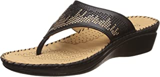 Scholl Women's Swaroski Thong Leather Slippers