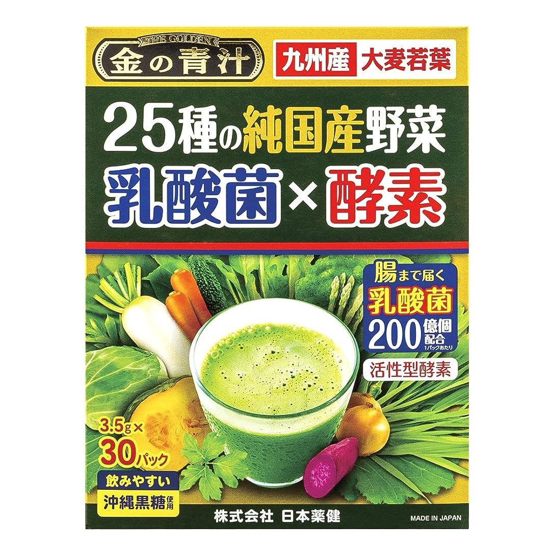 高原熱心いくつかの日本薬健 25種の純国産野菜 乳酸菌×酵素 30包