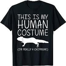Chipmunk Easy Halloween Human Costume Rodent Animal DIY Gift T-Shirt