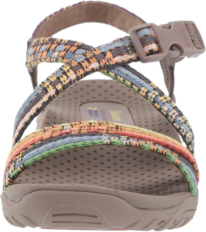 | Skechers Women's Reggae-Sew Me-Boho Woven Strappy Slingback Sandal | Sport Sandals & Slides