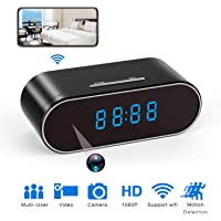 Hidden Spy Camera Clock HD 1080P IP for Home/Office Security (Black)