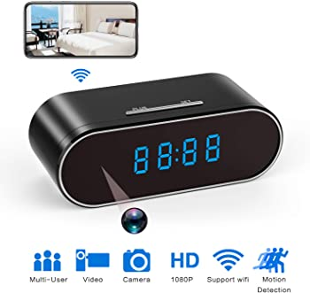 Hidden Spy Camera Clock HD 1080P IP for Home/Office Security