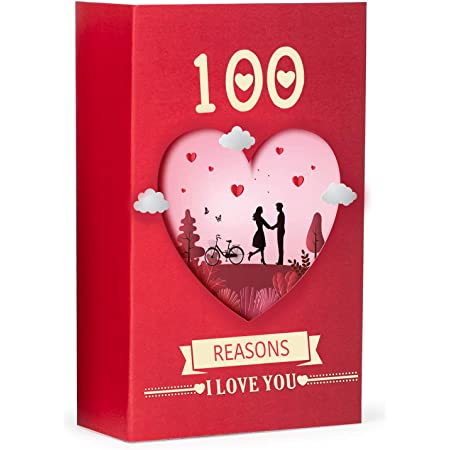 Kaameri Bazaar 100 Reasons I Love You: Romantic Gift Box with Love Messages for Couples Anniversaries, Valentines
