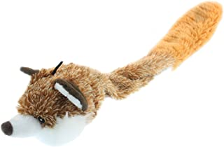 Multipet Bouncy Burrow Fox No Stuffing Dog Toy, 20-Inch