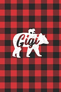 Gigi: Lumberjack Buffalo Plaid Family Bear Gigi Grandma 1 Cub Journal Notebook
