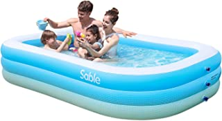 "Sable Inflatable Pool, Blow up Kiddie Pool for Family, Garden, Outdoor, Backyard, 92"" X 56"" X 20"", for Ages 3+"