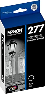 Epson T277120-S Claria Photo HD 277 Standard-Capacity Black Ink Cartridge (T277120) Ink