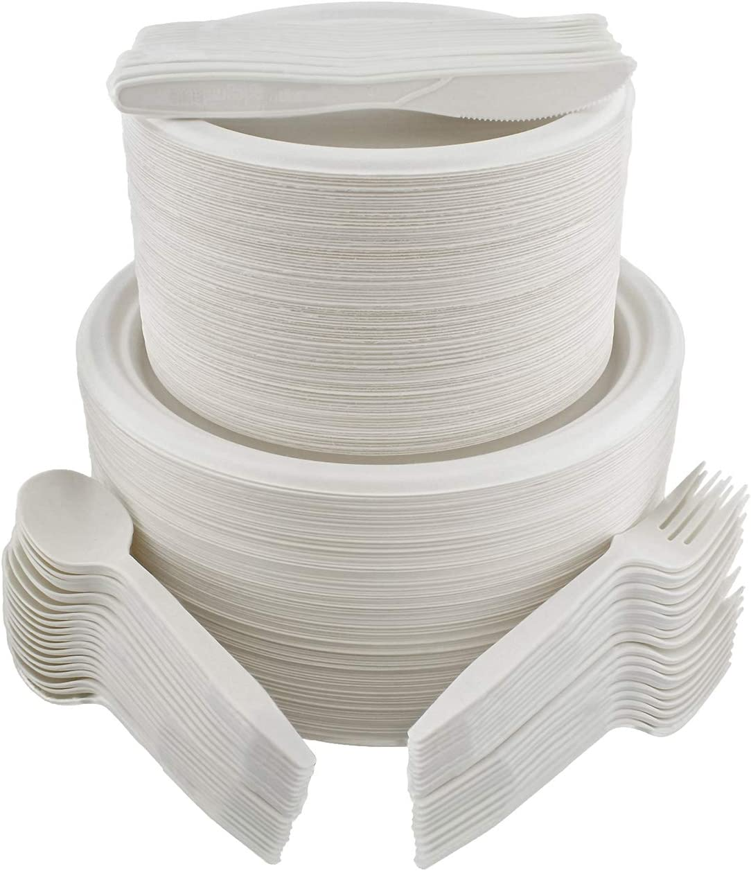 Spec7165 Disposable New 25% OFF popularity Dinnerware Set 500pc Guests for 100 Bright