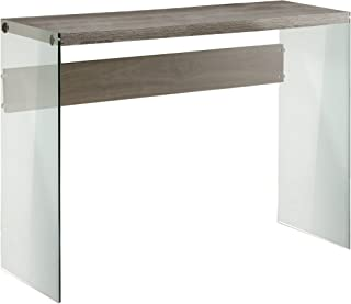 Monarch specialties , Console Sofa Table, Tempered Glass, Dark Taupe, 44