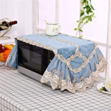 HHYK La Nueva Manera de microondas Cubierta de Encaje de microonda de la Capilla de Aceite Protector contra el Polvo Accesorios Cocina de la decoración del hogar Can Lavable (Color : Color 1)