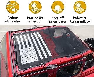 Jeep JL Full Mesh Sunshade Bikini Top Cover for JL Wrangler Sahara Rubicon 4 Door, USA Flag