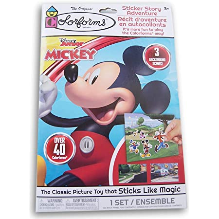 Mickey Mouse Colorforms Sticker Story Adventure 3 Background Scenes and Over 40 Colorforms The Classic Picture Toy That Sticks Like Magic
