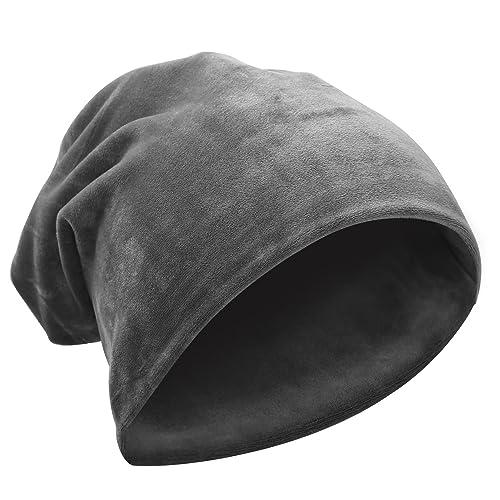 2e7d5725cc3 Komene Flannel Unisex Beanie hat  The Softest Winter Hat Add Warm Velvet  Protection   Slouchy