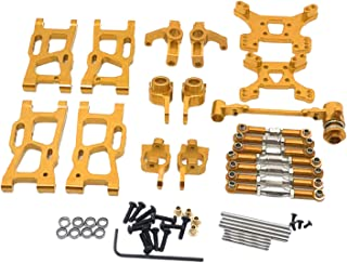 F Fityle Metal Upgrade Part Kits for WLtoys 1/12 124019 1:14 144001 RC Car Truck Front/Rear Swing Arms Steering Group Fron...
