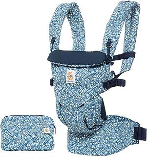 Ergobaby Babytrage für Neugeborene ab Geburt, 4-Positionen Baby-Tragetasche Omni 360 Batik Indigo, Ergonomische Kindertrage Rückentrage
