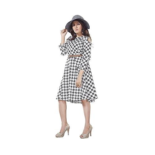 64d9f5a1e3900 Black White Dresses: Buy Black White Dresses Online at Best Prices ...
