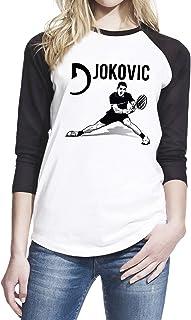 Wearuz Novak Djokovic Tennis Fan Women Baseball T-Shirt