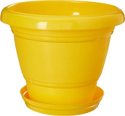 "GARDENS NEED 100% Virgin Plastic Deluxe -11"" Pot with Tray 