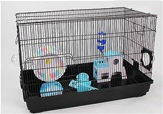 ハムスター ケージ 巣箱 Hamster Cage ハムスター 家 小動物ケージ齧歯類スナネズミマウスマウスラットハムスター、チンチラのための動物クリッターケージパーフェクト、アレチネズミ ペットのおもちゃ YYDD (Color : Black)