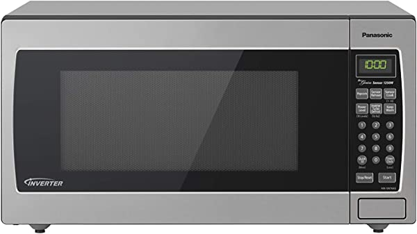 Panasonic Microwave Oven NN SN766S Stainless Steel Countertop Built In With Inverter Technology And Genius Sensor 1 6 Cu Ft 1250W