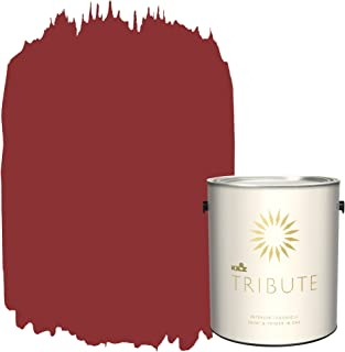 KILZ TRIBUTE Interior Eggshell Paint and Primer in One, 1 Gallon, Haute Red (TB-97)