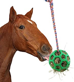 YUYUSO Horse Treat Ball Hay Feeder Ball Hanging Feeding Toy for Horse Stable Stall Rest