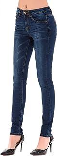 HONTOUTE Women's Classic High Waisted Butt Lift 4-Ways Stretch Modern Skinny Jeans