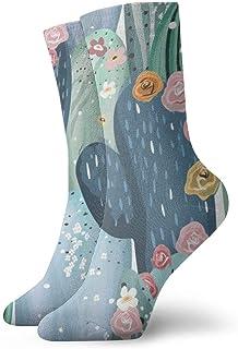 wwoman, Calcetines de vestir estampados para hombre y mujer Cactus vintage Calcetines coloridos divertidos y novedosos Crazy Crew 30 cm