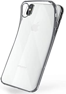 MoEx® Funda de Silicona Transparente de Estilo Cromado Compatible con iPhone X/iPhone XS | argenté