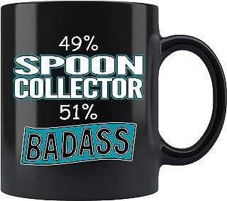 Spoon Collector Coffee Mug. Spoon Collector Funny Gifts for Women Men 11 oz black