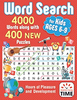 Word Search for Kids: 4000 Words along with 400 NEW Puzzles for Kids Ages 6-9. Hours of Pleasure and Development