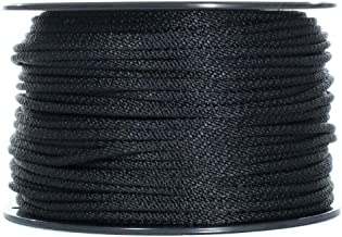 Solid Braid Nylon Rope - 1/4 Inch x 100 Feet - Black